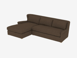 Canapé d'angle SECTIONAL BROWN LINEN (7843-3102 LAF)