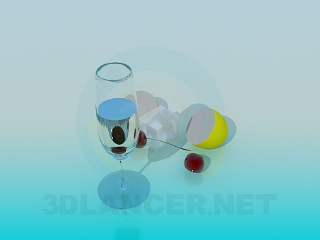 3d model A glass of water - preview