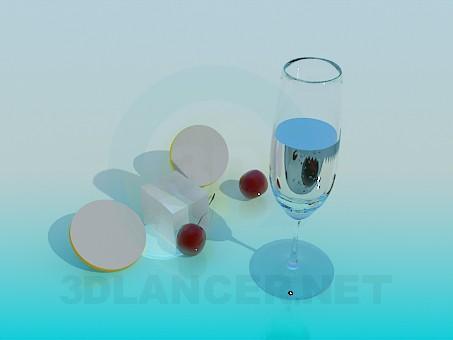modelo 3D Un vaso de agua - escuchar