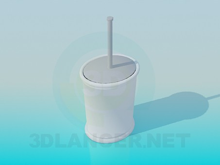 3d modeling Toilet brush model free download