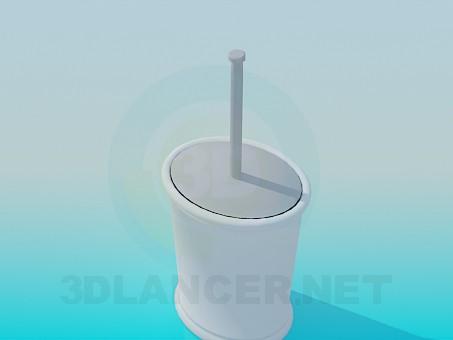 3d модель Щетка для унитаза – превью