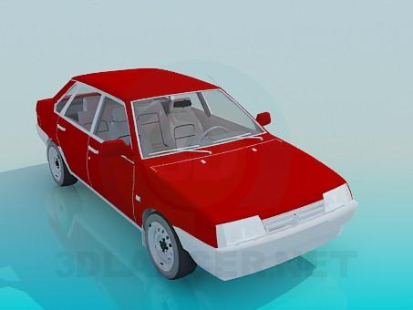 3d моделирование ВАЗ 2199 модель скачать бесплатно