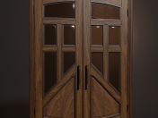 Wooden swing door