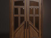 लकड़ी का झूला दरवाजा