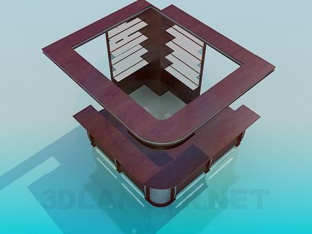 3d модель Стойка администратора – превью