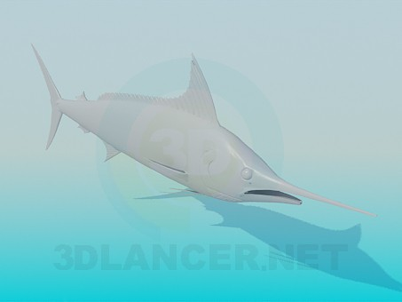 3d модель Рыба-меч – превью
