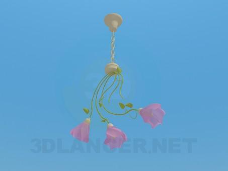 modelo 3D Araña de luces - escuchar