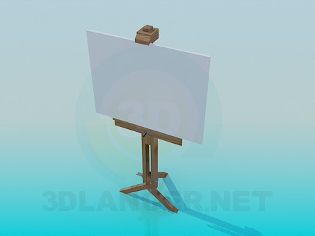 3d model Easel - preview