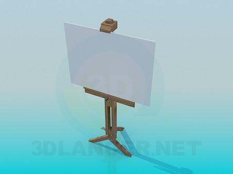 modelo 3D Caballete - escuchar
