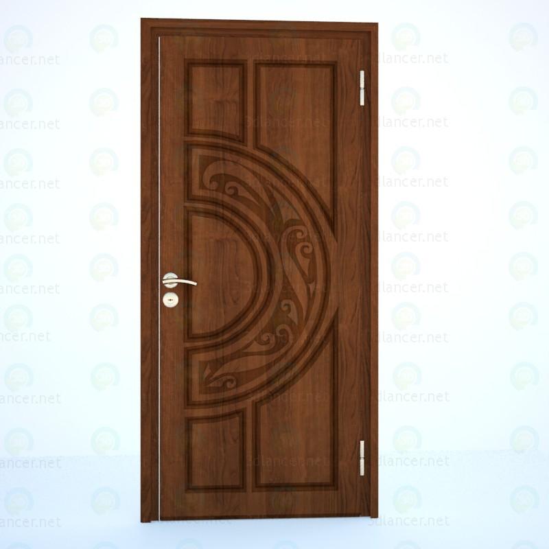 3d модель Двері вхідні металеві – превью