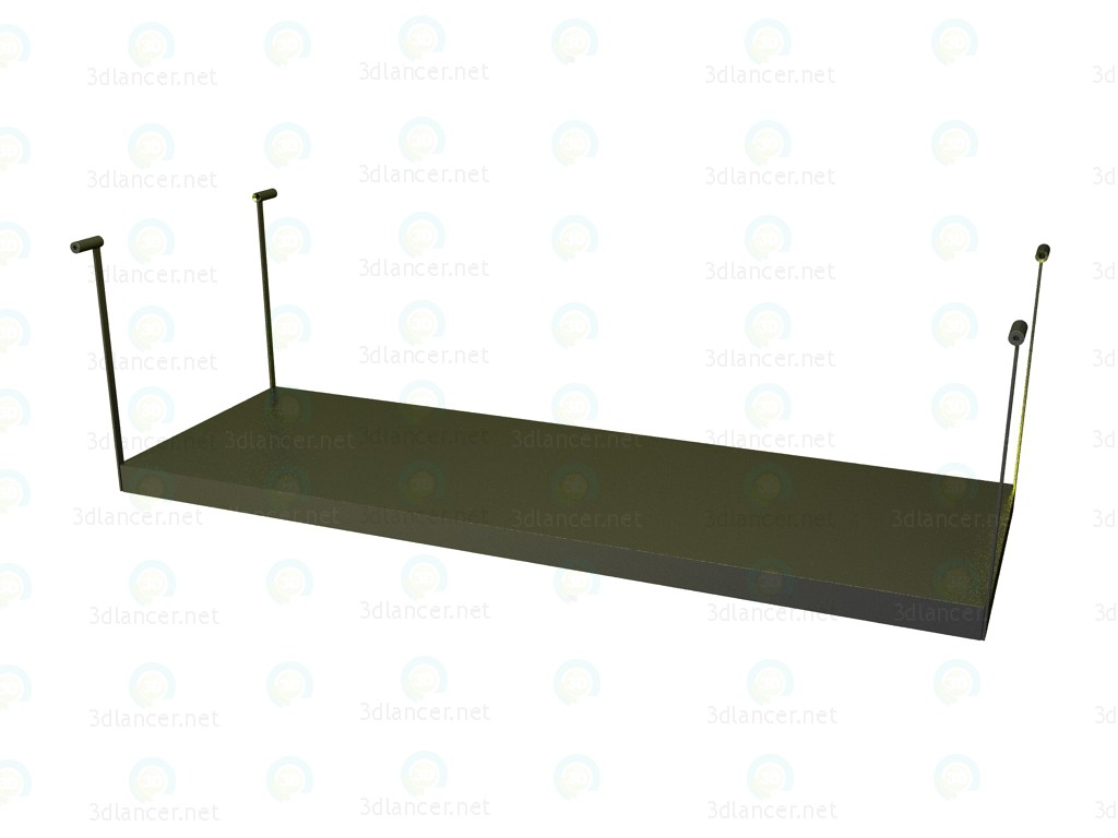 modello 3D Per mensola tavolo p1s1706a - anteprima