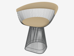 Armchair with leather upholstery Platner