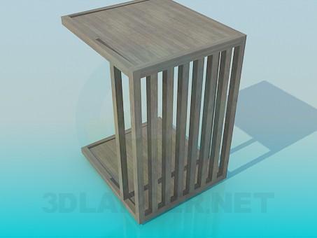 3d модель Деревянный навес – превью