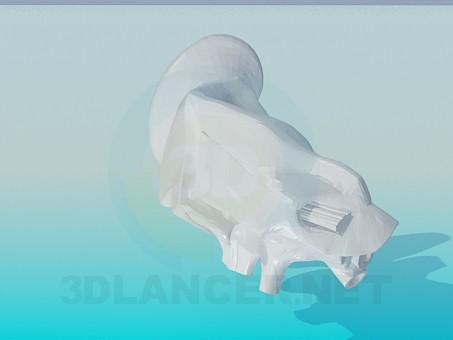 modelo 3D El oído humano - escuchar