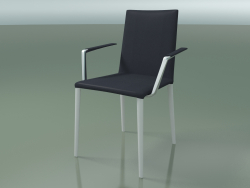 Chair 1708BR (H 85-86 cm, with armrests, with leather trim, V12)