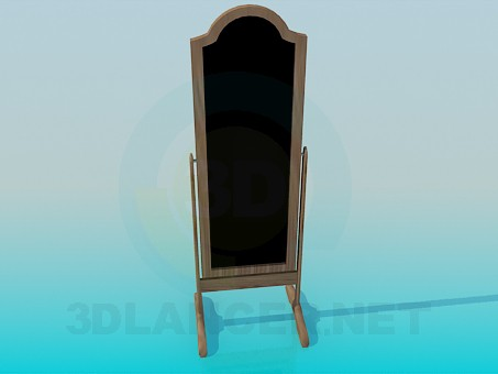 3d model Floor mirror with feet - preview
