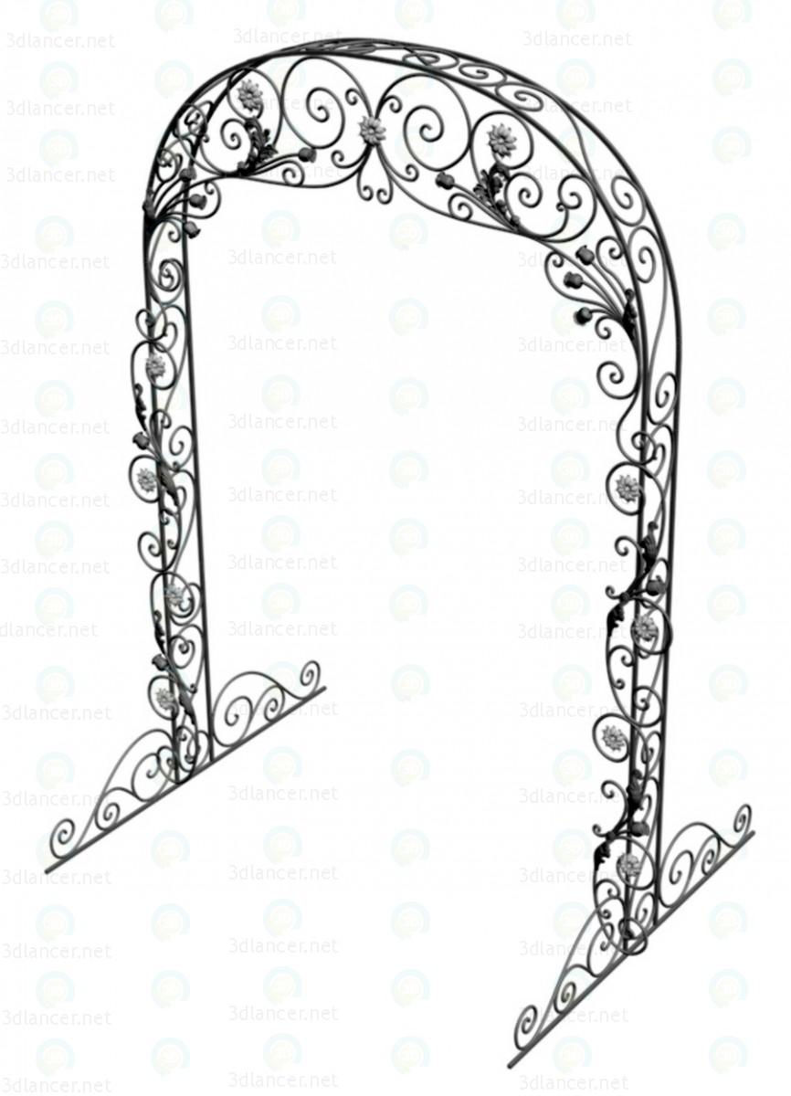 3d Wedding arch model buy - render