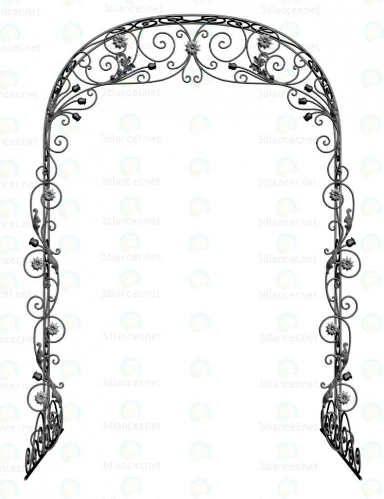 Arco de la boda  3D modelo Compro - render