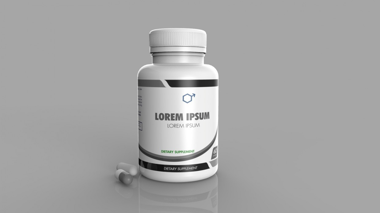 3d model supplement bottle - preview