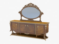 Dresser with mirror in classical style 203