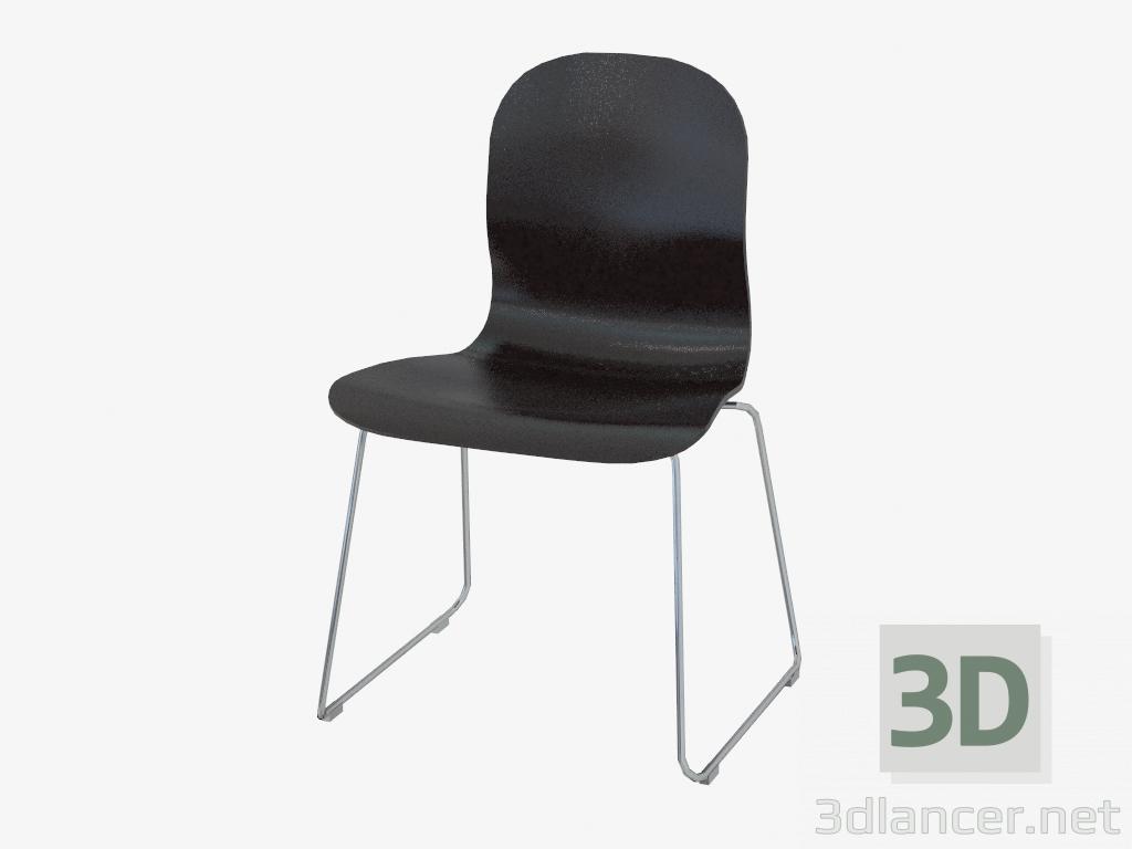 3d model Silla negra apilable - vista previa