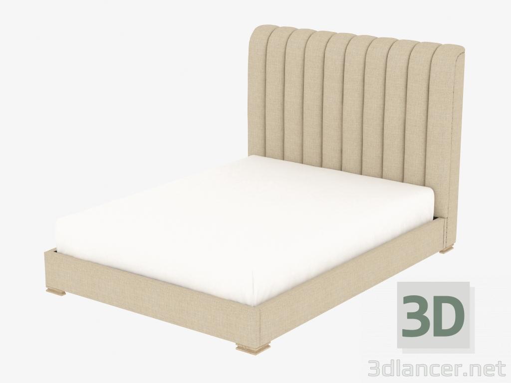 Modelo 3d HARLAN cama doble cama de tamaño queen CON MARCO (5101Q ...