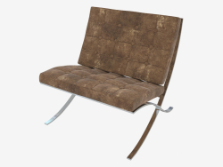 Chair with leather upholstery Barselona