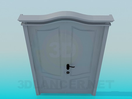 3d modeling Double door model free download