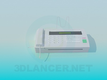 3d modeling Fax machine model free download
