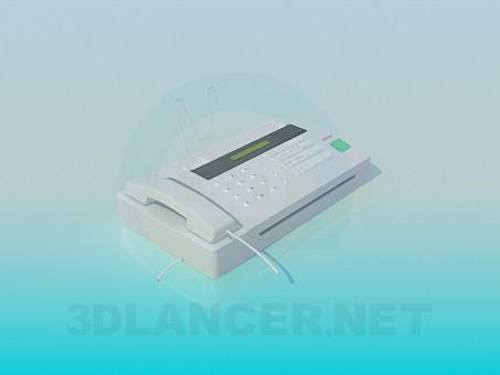 3d model Fax machine - preview