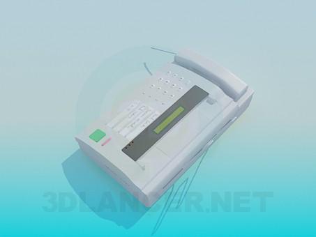 3d модель Факсимильный аппарат – превью