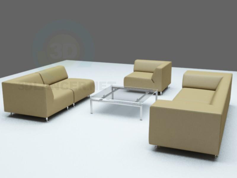 3d модель Полный комплект мебели – превью