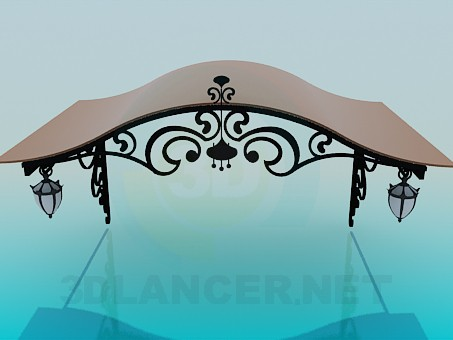 3d model Forged canopy - preview