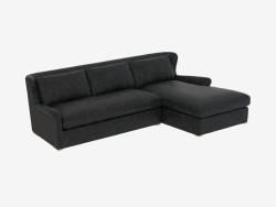 Leder-Modul-Sofa LEATHER & WOLLE SEKTIONAL (7843-3104) RAF