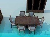 Conjunto de móveis para sala de jantar