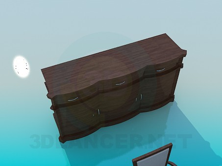 3d модель Набор мебели в столовую – превью