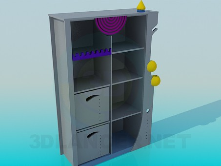 3d model Closet in the nursery - preview