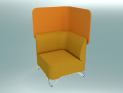 Corner armchair with screen (1CW)