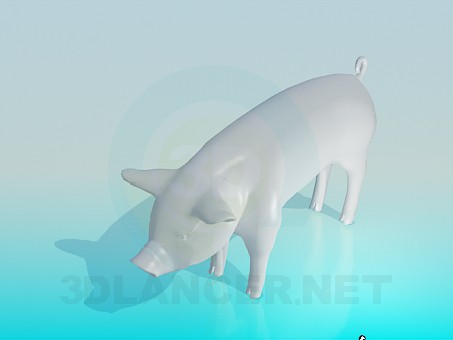 3d модель Свинья – превью