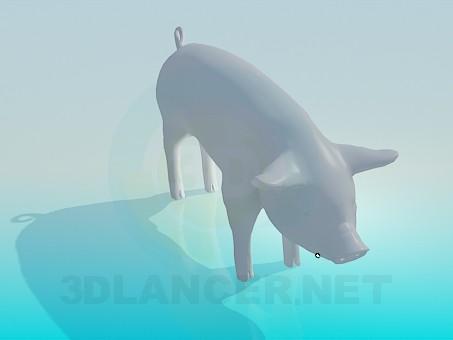 modelo 3D Cerdo - escuchar
