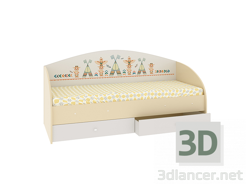 """3d model Bed """"Indians"""" - preview"""