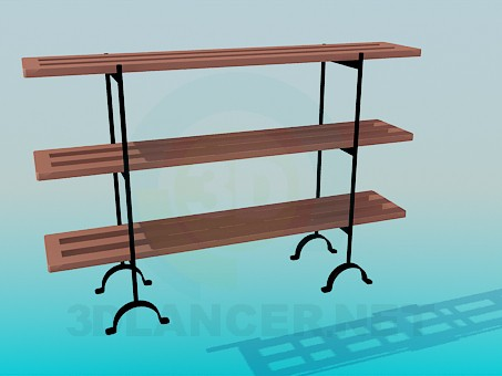 3d model Double sided rack - preview