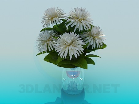 3d modeling Vase with Flowers model free download