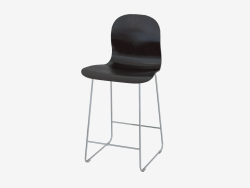 Chaise empilable bar noir Tate