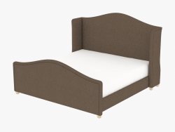 Double bed ATHENA KING SIZE BED (5008K Brown)