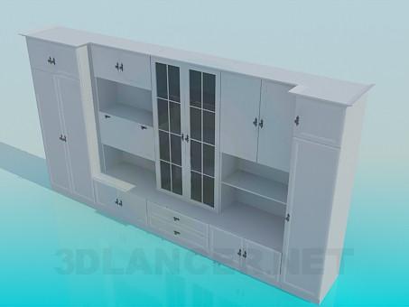 3d модель Шкаф-стенка в гостинную – превью