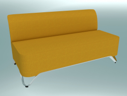 Double sofa without armrests (2B)