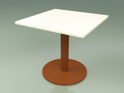 Table 001 (Metal Rust, Weather Resistant White Colored Teak)