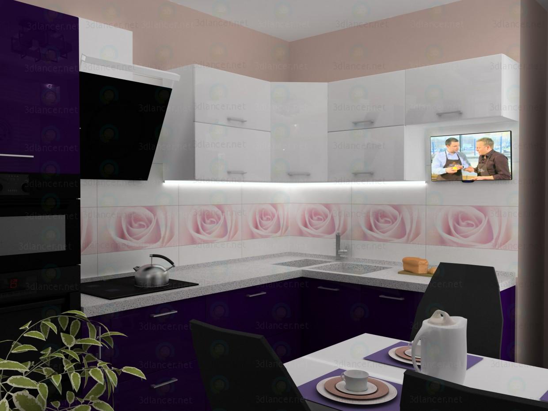 descarga gratuita de 3D modelado modelo Fiarentino de cocina