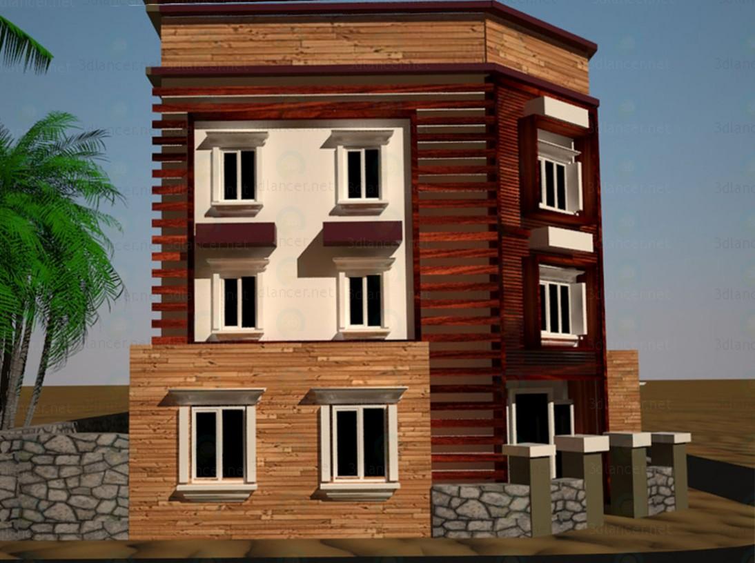 3d  Exterior Building design  model buy - render